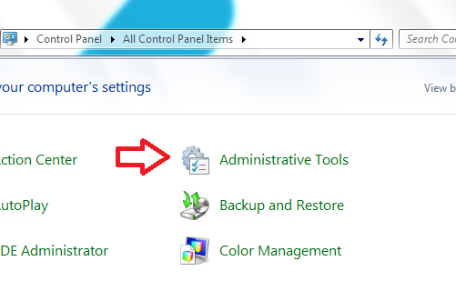 Select Admin Tools